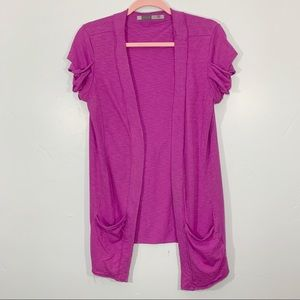 ATHLETA | Open Front Fuchsia Colored Cardigan